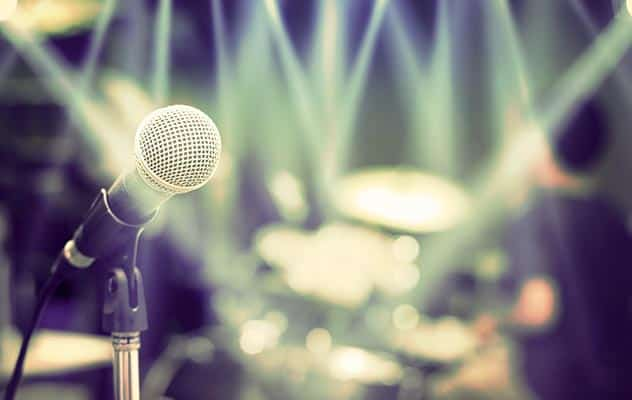 Microphone and drummer