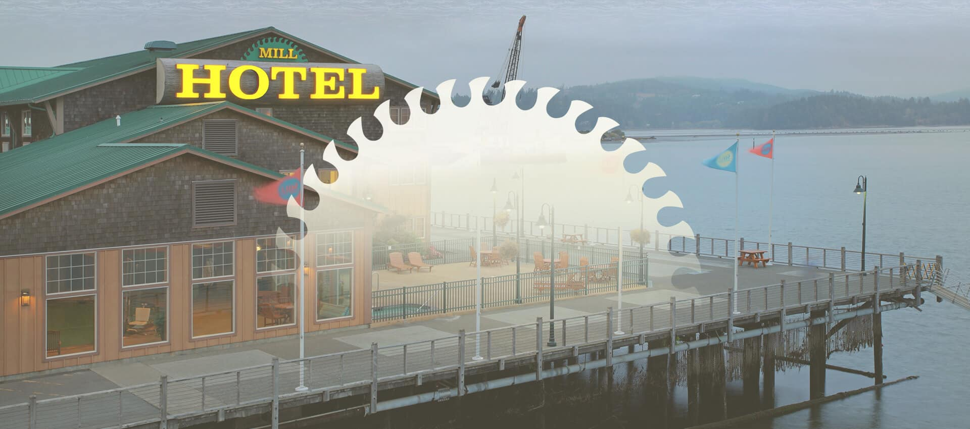 The Mill Casino exterior with Hotel sign