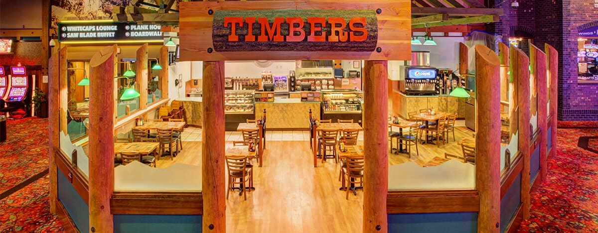 Timbers Cafe entryway and dining area