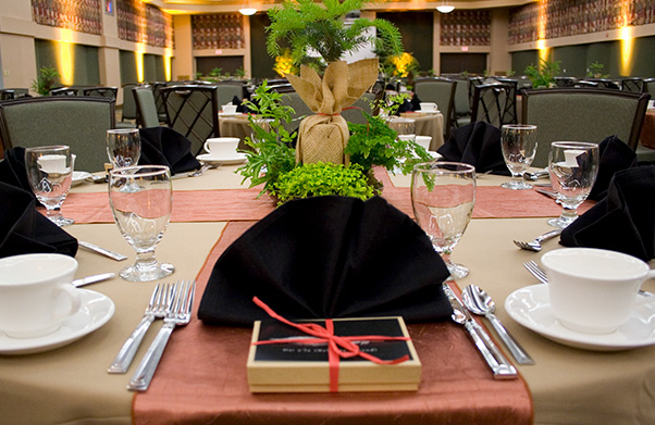 Table prepared for wedding