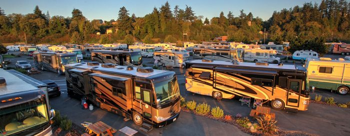 RVs in Bayside Pull-Through Sites