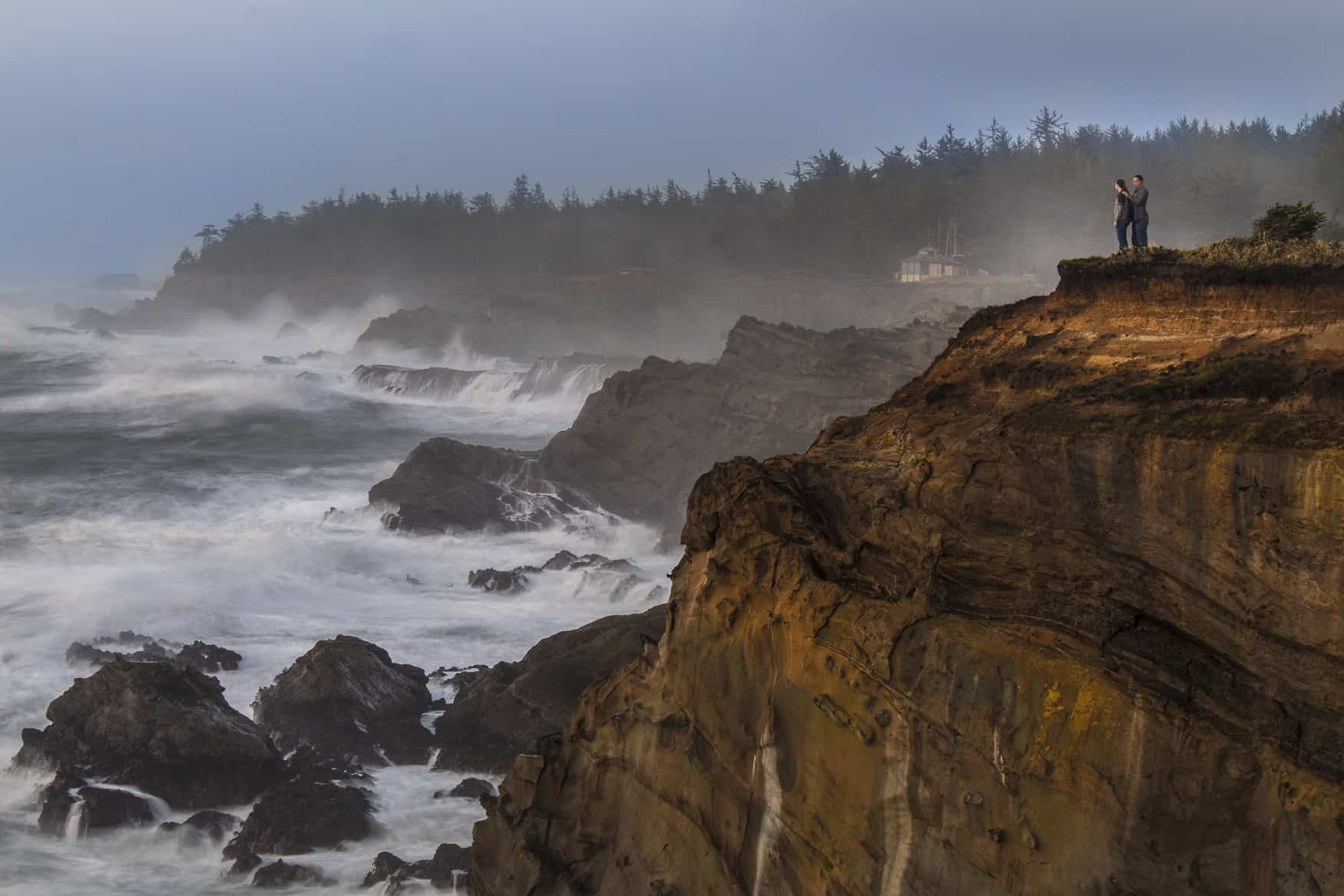 Cliffs at Shore Acres in Coos Bay