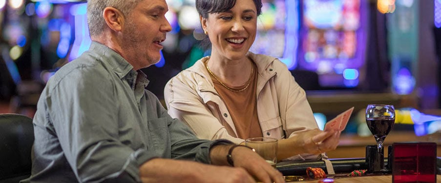 Couple at the Casino Table