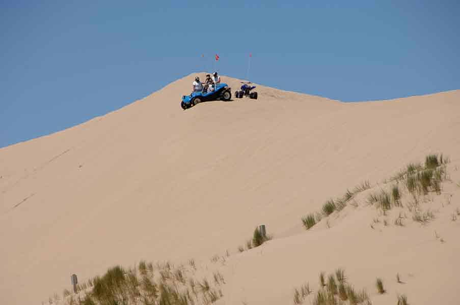 Riding ATVs on Oregon Dunes