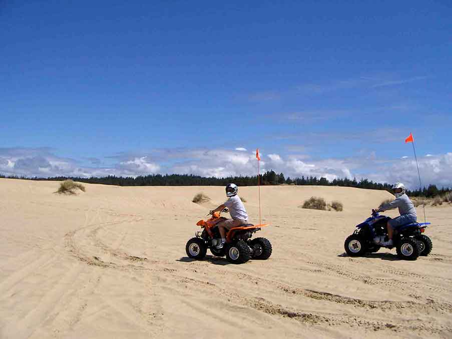 Riding on ATVs on The Oregon Dunes