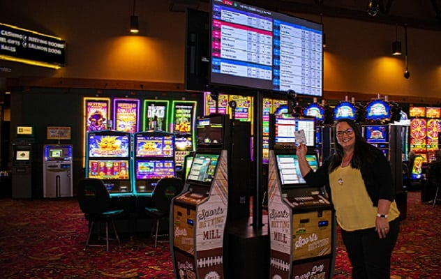 Spots betting center and slot machines