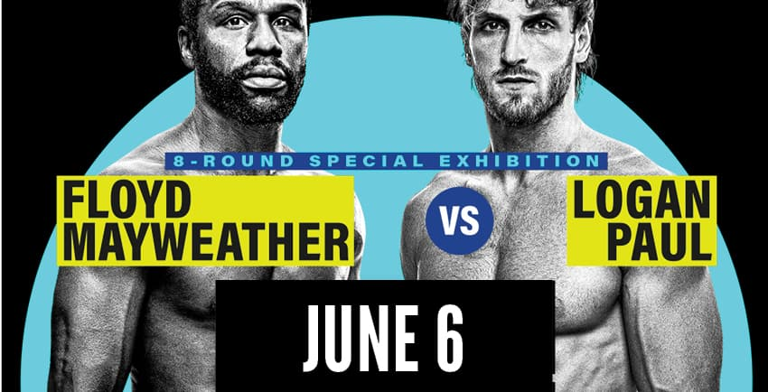 8-Round special exhibition Floyd Mayweather vs Logan Paul June 6