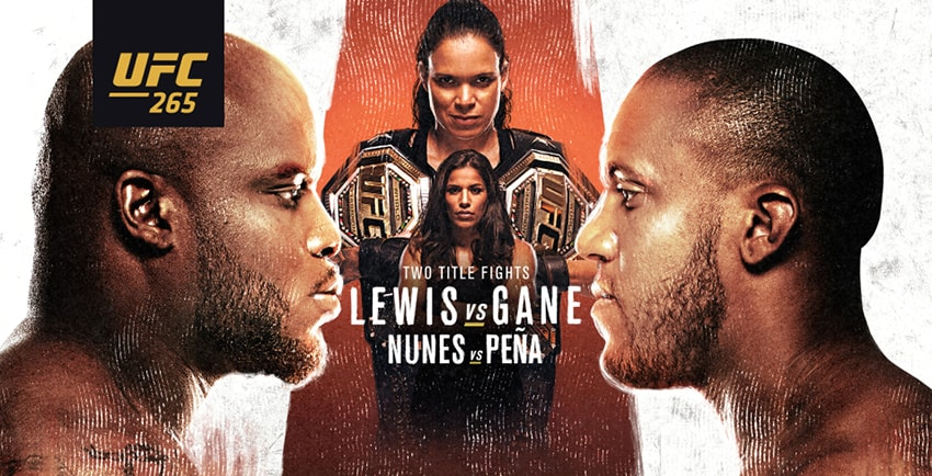 UFC-265 Two title fights: Lewis vs. Gane and Nunes vs Peña