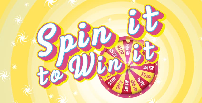 Spin it to win it drawings